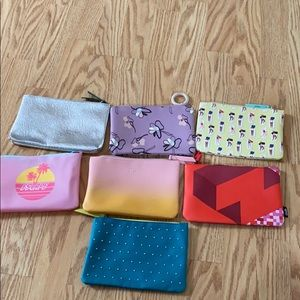 7 BRAND NEW IPSY MAKE UP BAGS!